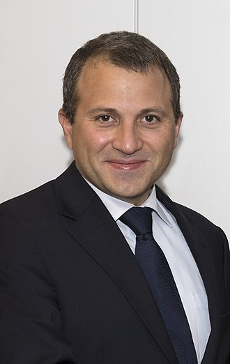 Gebran Bassil - Image: Lebanese Foreign Minister Gebran Bassil (cropped)