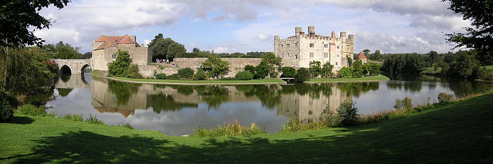 The landscape around Leeds Castle in England has been managed since the 13th century. The castle overlooks artificial lakes and ponds and is within a medieval deer park.