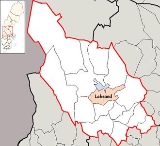 Leksand Municipality - Image: Leksand Municipality in Dalarna County