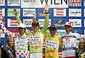 Leonardo Bertagnolli, André Greipel, Michael Albasini, Stefan Denifl - Österreich-Rundfahrt 2009.jpg