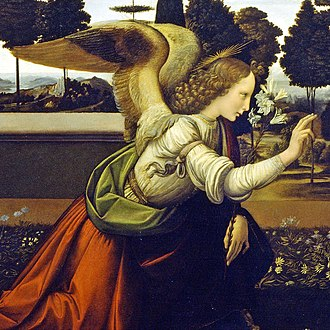 Karl Eduard von Liphart - The angel from Leonardo da Vinci's Annunciation