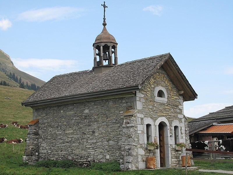 The chapel of les Aravis (border Savoie and Haute-Savoie, France).