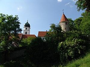 Leutkirch, Pulverturm und St. Martin