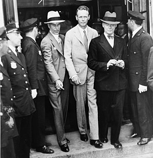 Charles A. Lindbergh after telling the grand j...