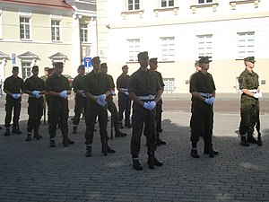 Grand Duke Gediminas Staff Battalion - Members of the Honor Guard Company during their training.