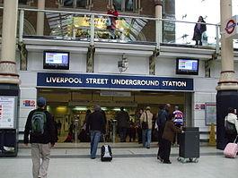 Hall d'entrée souterrain de Liverpool Street JPG