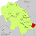 Localització de Xòvar respecte de l'Alt Palància.png