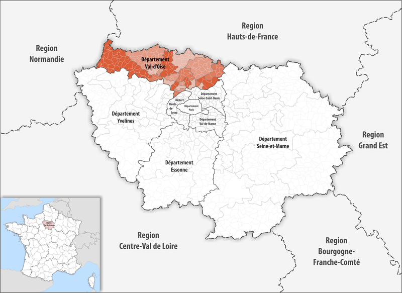 Datei:Locator map of Departement Val-d'Oise 2018.png