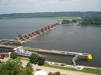Lock and Dam No. 11 - Image: Lock and Dam 11