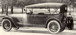 Locomobile Company of America - Locomobile seven-passenger Touring Car from 1920 magazine advertisement