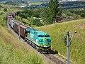 Locomotiva no final do comboio que passava sentido Guaianã na Variante Boa Vista-Guaianã km 199 em Itu - panoramio.jpg