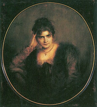 Franz von Lenbach - Portrait of his second wife, Charlotte