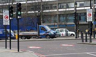 fee charged on most motor vehicles operating within the Congestion Charge Zone (CCZ) in central London between 07:00 and 18:00 Monday to Friday