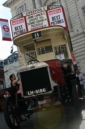 London Buses route 9 - Restored LGOC B-type bus in June 2014