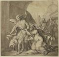 Lot und seine Familie werden von den Engeln aus Sodom geführt (SM 13336z).png
