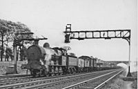 Loughton Siding signal box in 1957