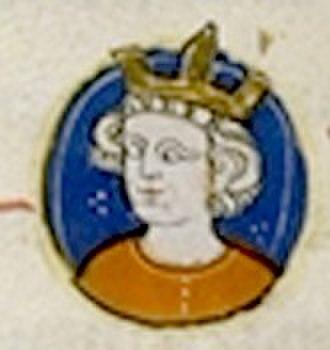 Louis X of France - A contemporary picture from the Généalogie des rois de France'