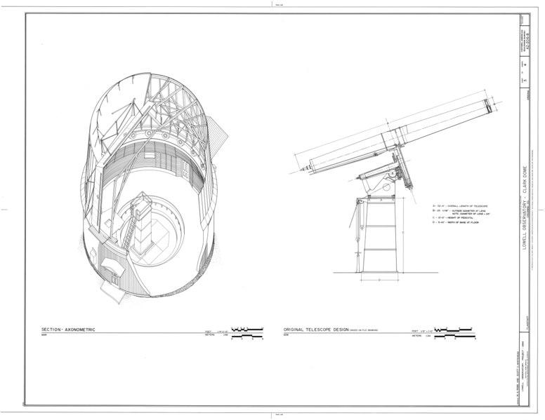 File:Lowell Observatory, Clark Dome, 1400 West Mars Road, Flagstaff, Coconino County, AZ HABS ARIZ,3-FLAG,1B- (sheet 3 of 4).tif