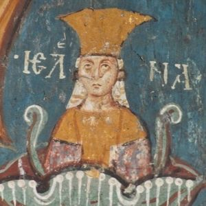 Jelena Nemanjić Šubić - Jelena, fresco at Visoki Dečani