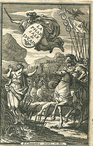 Lucan - Engraved title page of a French edition of Lucan's Pharsalia, 1657