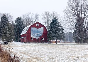 Springfield Township, Lucas County, Ohio - Bicentennial barn west of Holland on State Route 2