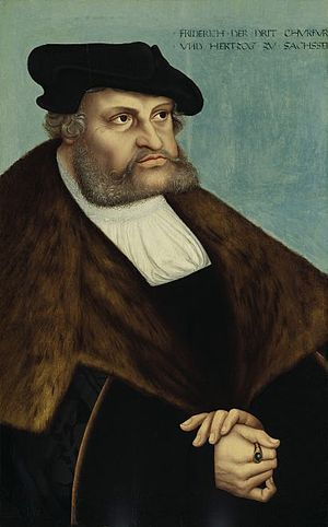 Frederick III, Elector of Saxony - Frederick in a portrait by Lucas Cranach the Elder