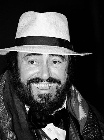 "Italian singer Luciano Pavarotti has been identified as the ""King of the High C's"". Luciano Pavarotti (cropped).jpg"