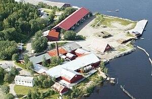 Norwegian Sawmill Museum - Image: Luftfoto 3Spillum Dampsag