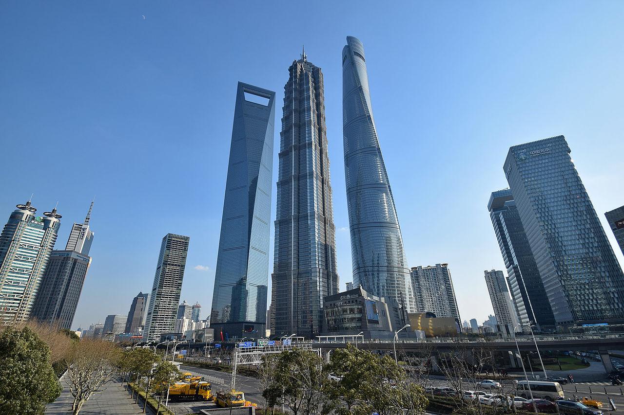 Pusat Keuangan Dunia Shanghai, Menara Jin Mao dan Menara Shanghai, Lujiazui