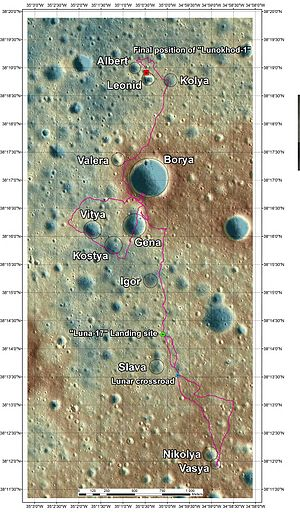 Lunojod 1 300px-Lunokhod-2_small_craters_map