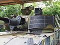 M109 close-up of turret, photographed at the Aalborg Forsvars- og Garnisonsmuseum.JPG