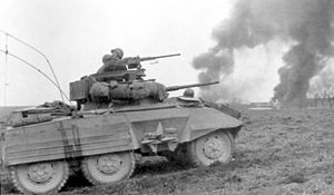 Armoured cavalry - The M8 Greyhound was used in US Armored Cavalry formations during WWII