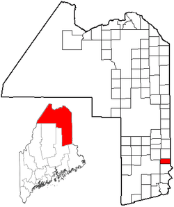 Location of Cary Plantation, Maine