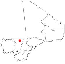 Location of Nara in Mali