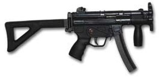 Heckler & Koch MP5 - MP5K-PDW (early prototype, lacking 'Navy' trigger group and lugged barrel).