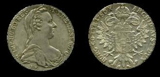 Maria Theresa thaler - Maria Theresa thaler. London Mint (Hafner 63).