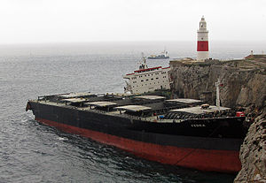 MV Fedra - MV Fedra at Europa Point, after breaking in half