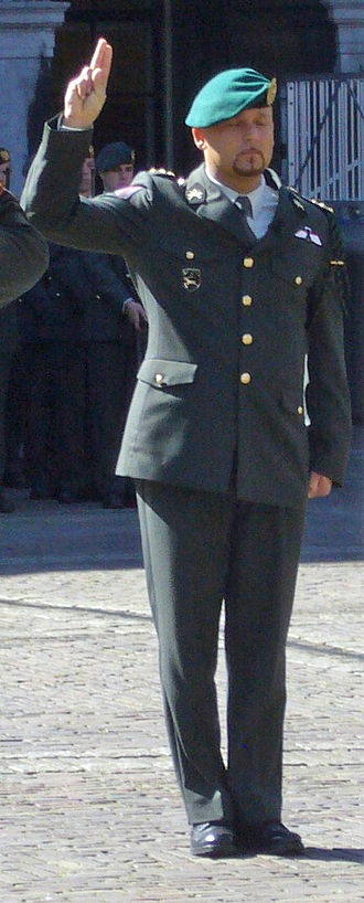 Marco Kroon - Marco Kroon taking the knighthood oath during the presentation ceremony of the Military William Order on 29 May 2009