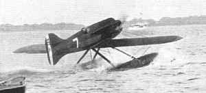Schneider Trophy - Image: Macchi M.67 moving