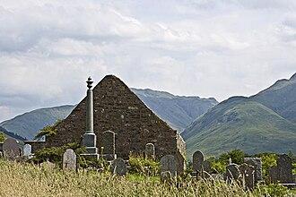 Clan Macrae - Clachan Duich Highland Church in ruins and burial ground of Clan Macrae