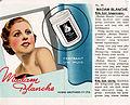 Madame Blanche beauty cream advertisement, Moestika 1940, p90.jpg