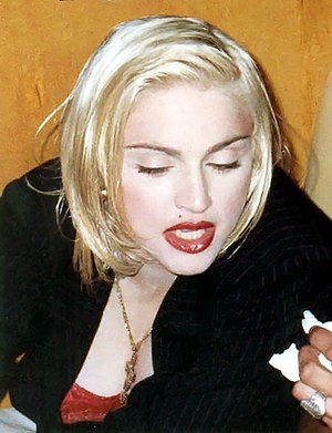 Singer Madonna in September 1990 at the AIDS P...