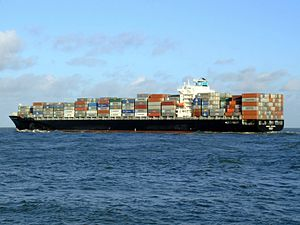 Maersk Driscoll p2, leaving Port of Rotterdam, Holland 29-Nov-2006.jpg
