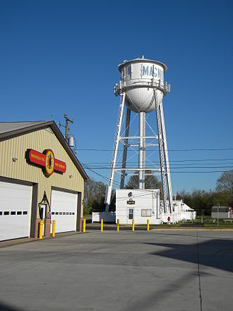 Magnolia, Delaware - Magnolia Fire Company, with Town Hall and water tower in background