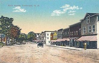 Colebrook, New Hampshire - Image: Main Street, Colebrook, NH