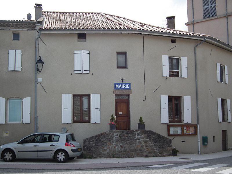 Town hall of Nonières - Ardèche - France