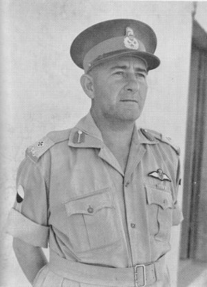 2nd Infantry Division (South Africa) - Maj.Gen. H. B. Klopper, Commander 2nd SA Inf Div at the surrender of Tobruk. (South African National War Museum)