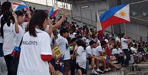 Philippines women's national football team - Fans of the Philippine national team at the Bangabandhu National Stadium
