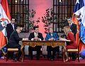 """Mandataria Bachelet- """"Compartimos una visión común sobre la importancia de la integración en América Latina y los beneficios que siempre el trabajo conjunto va a significar a nuestros países"""" (30028558995).jpg"""