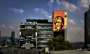 Shepard Fairey - Mandela by Shepard Fairey Mural